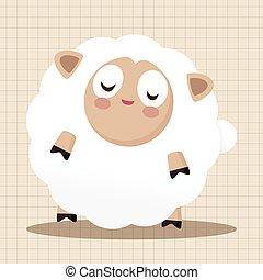 Animal sheep flat icon elements, eps10