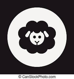 animal sheep icon