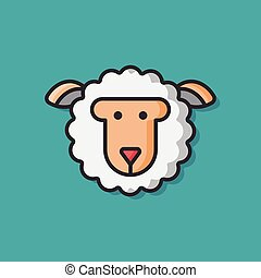 animal sheep vector icon