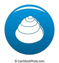 Animal shell icon blue - Animal shell icon. Simple ...