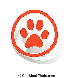 Animal sign sticker, orange