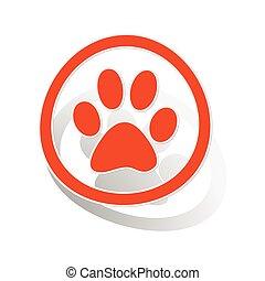 Animal sign sticker, orange