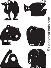 animal, siluetas