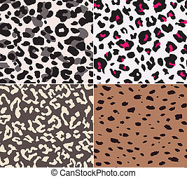animal skin fabric seamless pattern