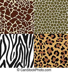 Animal Skin Patterns - Seamless Animal Skin Pattern set:...
