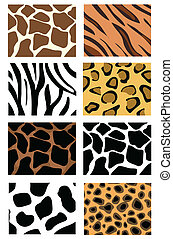 animal skin textures - illustration of animal skin textures