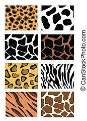 animal skin textures - llustration of animal skin textures,...