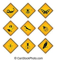 animal, symbole, signe