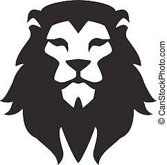 animal, template., symbole, fort, signe., logo, tête, fierté...