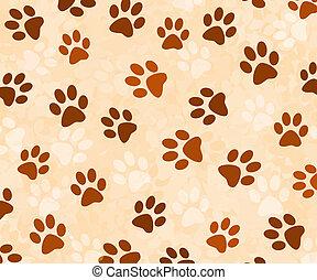 Animal tracks background