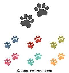 Animal Tracks icons set