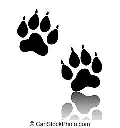 Animal Tracks. Vector illustration - Animal Tracks. Black ...