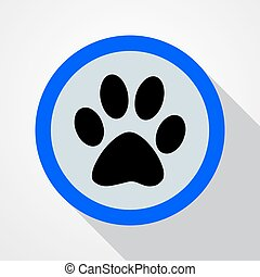 Animal tracks - vector illustration.