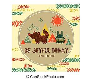 Animal Tribal Card