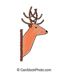 animal trophy vector illustration