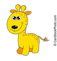 animal., vektor, karikatúra