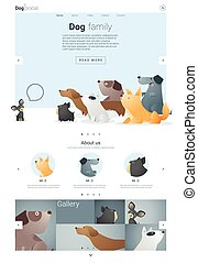 Animal website template  banner and infographic with Dog 2