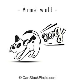 Animal World Fart Dog Background Vector Image