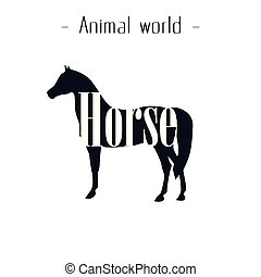 Animal World Horse Background Vector Image