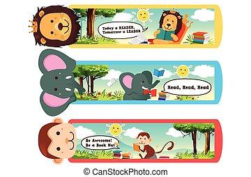 animale, bookmarks