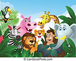 Vettore giraffa cartone animato illustrazione vettore - Cartone animato giraffe immagini ...