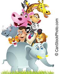 animale, cartone animato