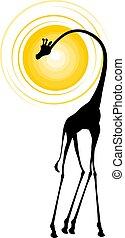 animale, illustrazione, africano