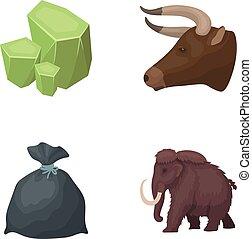 animale, storia, e, altro, web, icona, in, cartone animato, style.mine, pulizia, icone, in, set, collection.