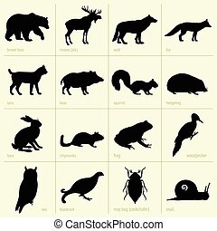 animales, bosque
