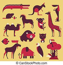 animales, conjunto