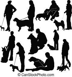 animales, exposición, exhibición, perros