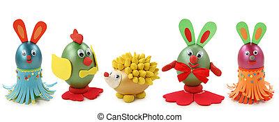 animales, hecho, de, huevos