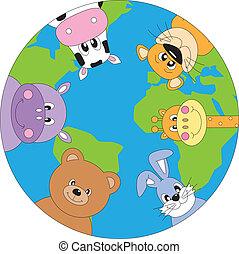 animales, mundo