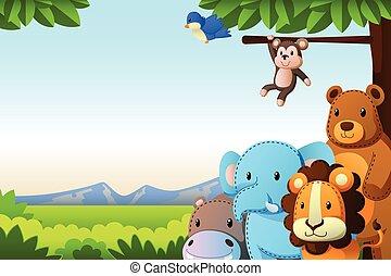 animales salvajes, plano de fondo
