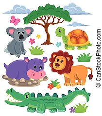 animales, topic, colección, 1