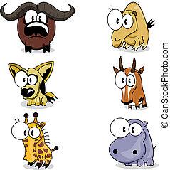 animali, cartone animato