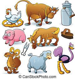 animali fattoria, collezione