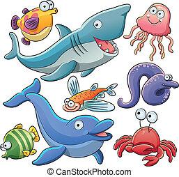 animali, mare, collezione