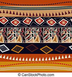 animali, seamless, struttura, africano