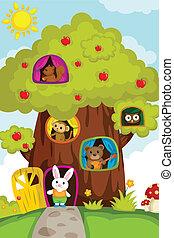 animali, treehouse
