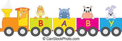 animali, treno