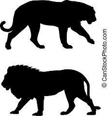 Animals - Abstract vector illustration of predatory animals ...