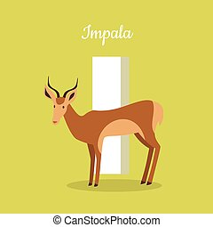 Animals Alphabet. Letter - I