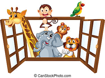 Animals and window