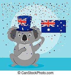 animals australia day celebration