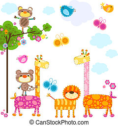animals background - cute animals background for cards
