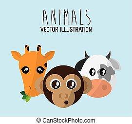 Animals cartoon design