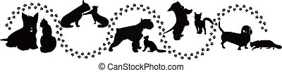 animals cats and dogs traces