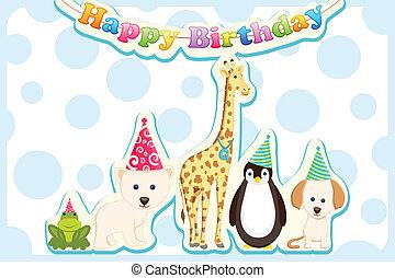 Animals Celebrating Birthday