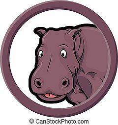 animals circle hippo